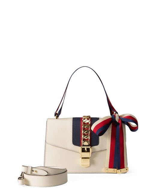 ad1e986f8a2 Lyst - Gucci Small Sylvie Leather Shoulder Bag - in Red