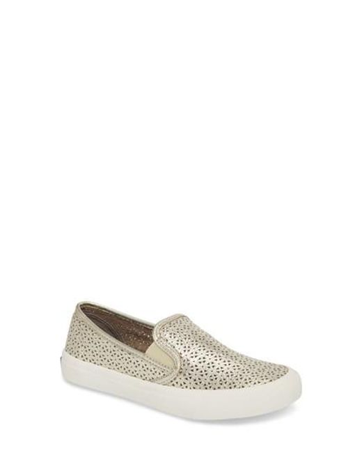 Seaside Washable Leather Slip On Sneakers