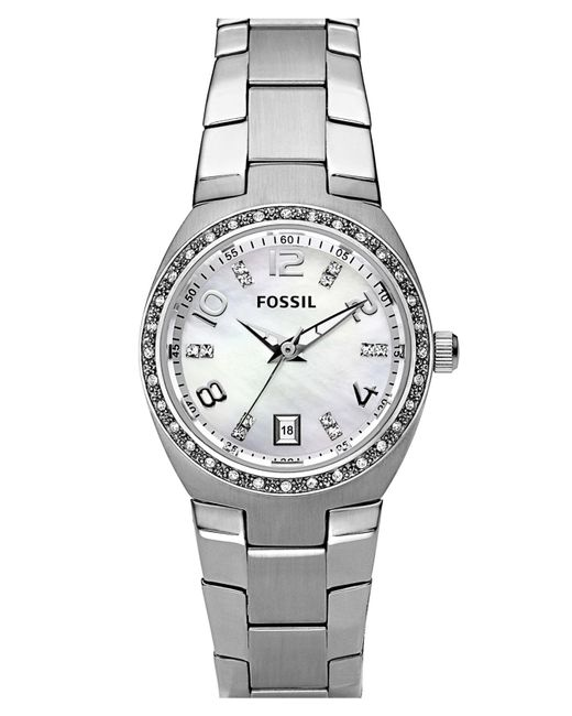 Fossil - Metallic Crystal Dial Watch - Lyst