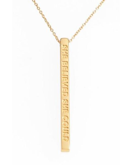 Mantraband | Metallic Forever Family Pendant Necklace | Lyst