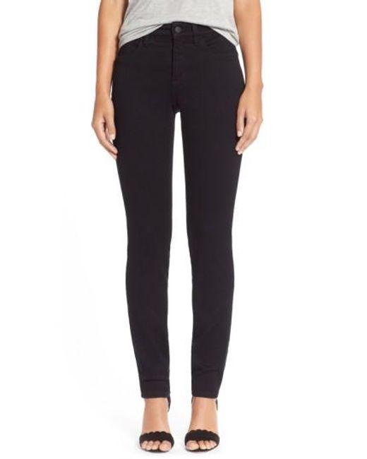 NYDJ | Black Alina Colored Stretch Skinny Jeans | Lyst