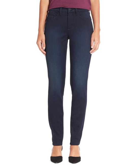 NYDJ | Blue Alina Colored Stretch Skinny Jeans | Lyst