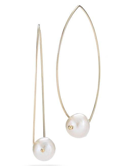 Mizuki - Multicolor Pearl Marquise Drop Earrings - Lyst