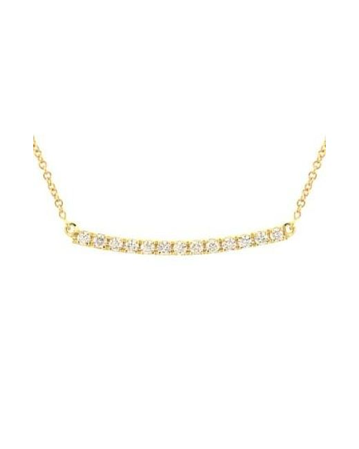 Bony Levy | Metallic 'stick' Pave Diamond Bar Necklace (nordstrom Exclusive) | Lyst