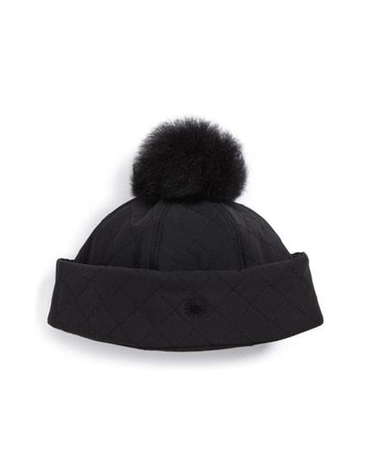 Ugg - Multicolor Ugg Australia Water Resistant Quilted Hat With Genuine Shearling Pompom - - Lyst