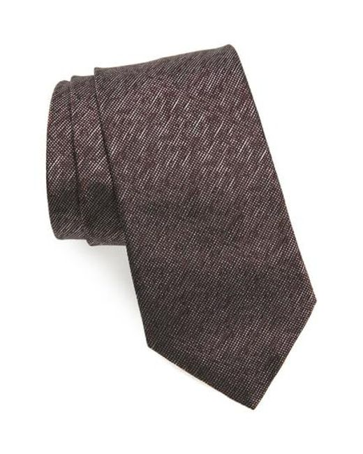 John Varvatos - Multicolor Solid Silk Tie for Men - Lyst