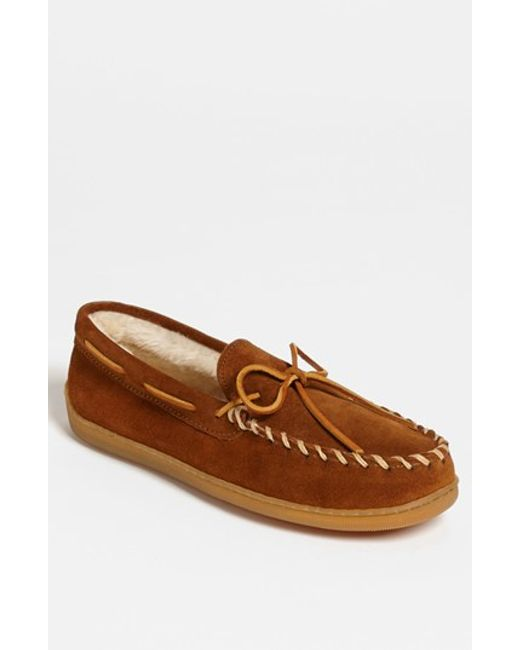 Minnetonka | Brown Suede Moccasin for Men | Lyst