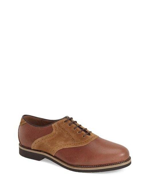 G.H. Bass & Co. | Brown 'burlington' Saddle Shoe for Men | Lyst