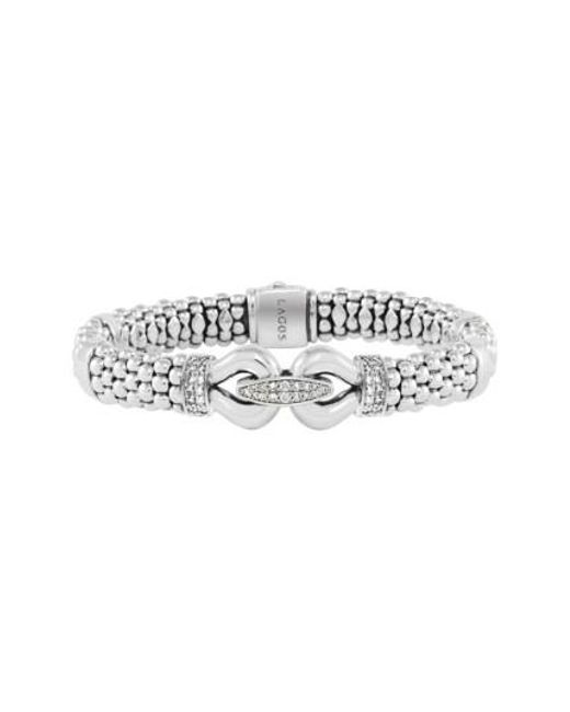 Lagos   Metallic 'derby' Caviar(tm) Diamond Rope Bracelet (online Only)   Lyst