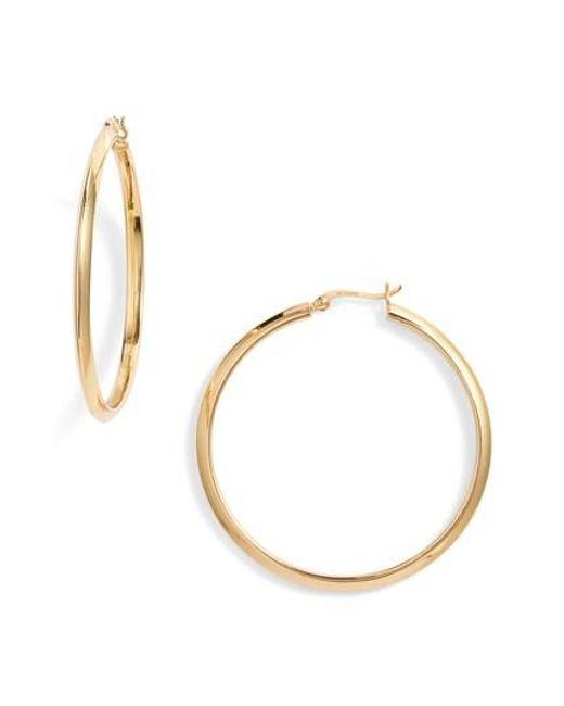Argento Vivo | Metallic Flat Edge Hoop Earrings | Lyst