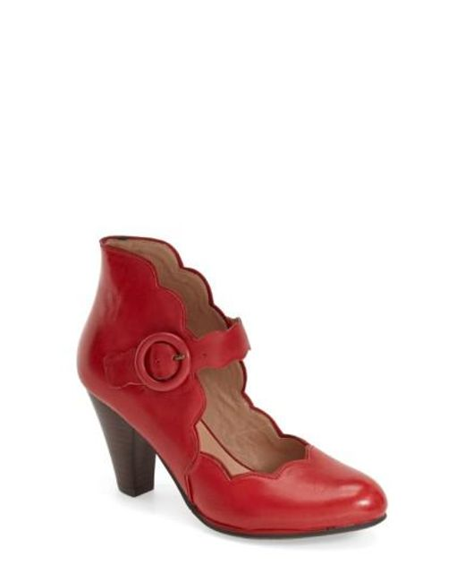 Miz Mooz | Red Carissa Mary Jane Pumps | Lyst