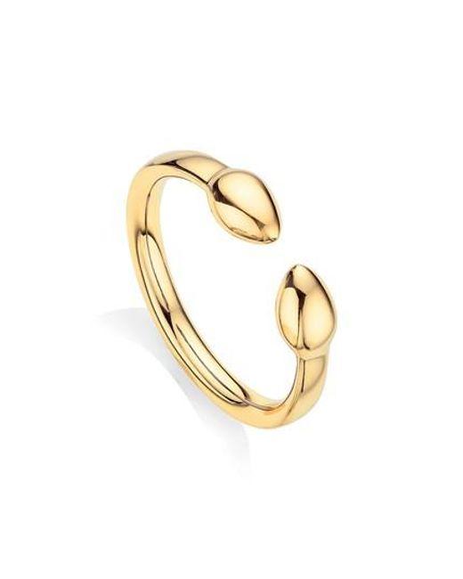 Rose Gold Fiji Bud Stacking Ring Monica Vinader 6UAMofH
