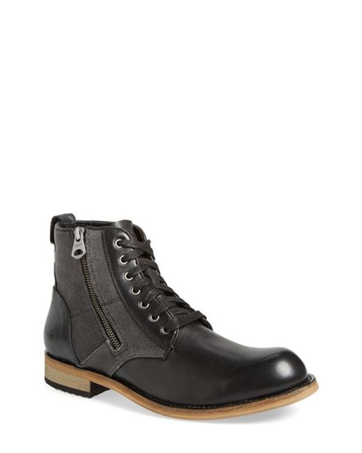 Andrew Marc | Black 'forest' Plain Toe Boot for Men | Lyst