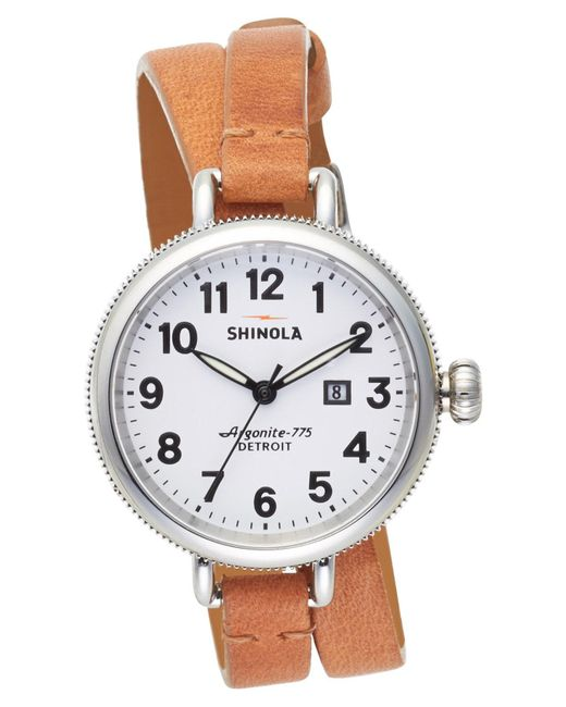 Shinola - Multicolor 'the Birdy' Double Wrap Leather Strap Watch - Lyst