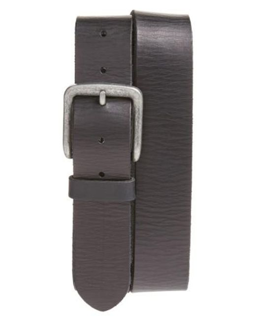 John Varvatos | Black Leather Belt for Men | Lyst