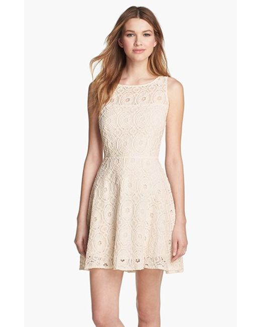 Bb dakota 39 renley 39 lace fit flare dress nordstrom for Bb fit padova