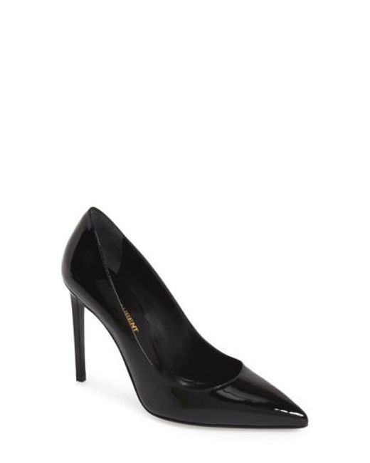 Saint Laurent - Black Patent Leather Paris Skinny Pumps - Lyst