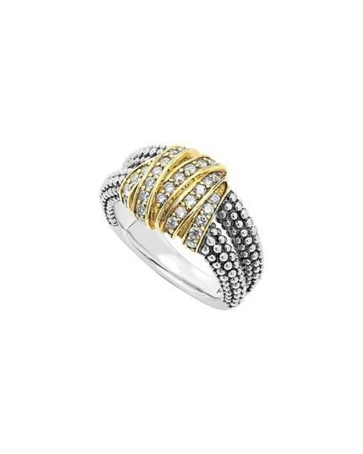 Lagos | Metallic 'diamonds & Caviar' Medium Diamond Ring | Lyst