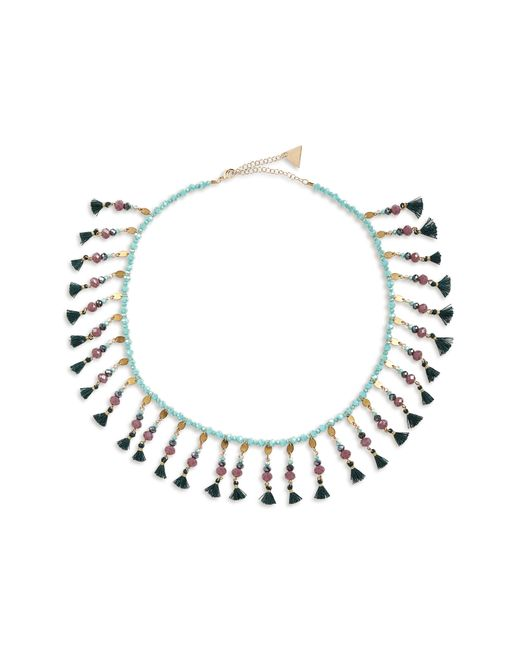 Serefina - Green Fluid Floral Collar Necklace - Lyst