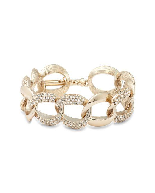 Nina - Metallic Pave Curb Chain Bracelet - Lyst