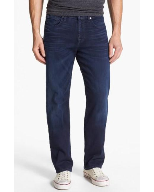7 For All Mankind   Blue 7 For All Mankind 'carsen - Luxe Performance' Easy Straight Leg Jeans for Men   Lyst