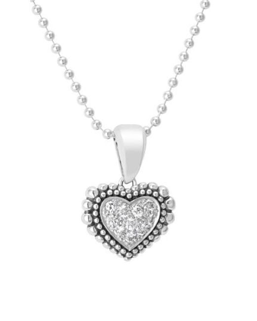 Lagos | Metallic Diamond Heart Pendant Necklace | Lyst