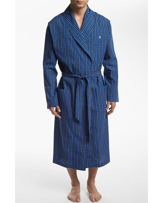 Polo Ralph Lauren | Blue Woven Robe for Men | Lyst