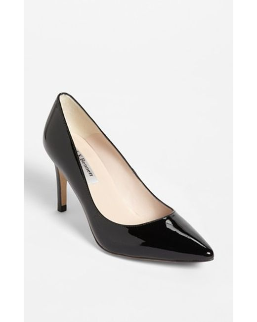 L.K.Bennett | Black Floret Pointed Leather Courts | Lyst