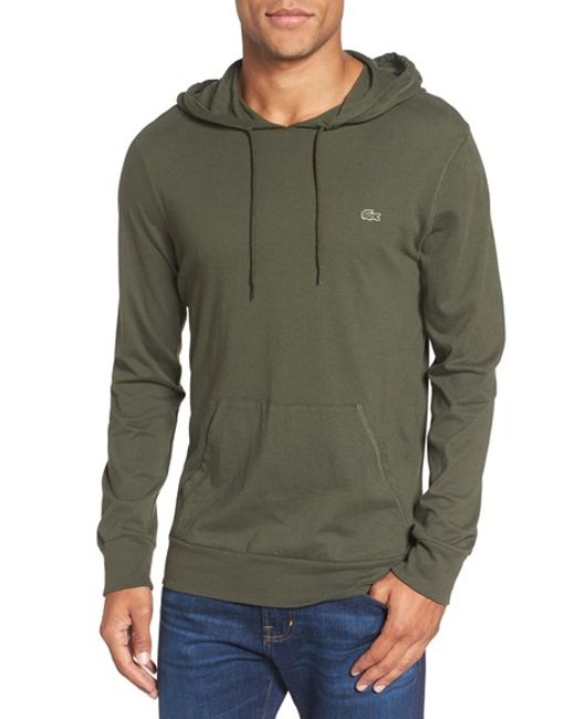 Lacoste | Blue Jersey Hoodie for Men | Lyst