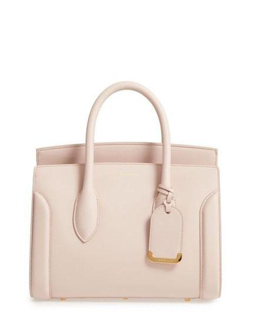 Alexander McQueen - Multicolor Medium Heroine Calfskin Leather Shopper - Lyst