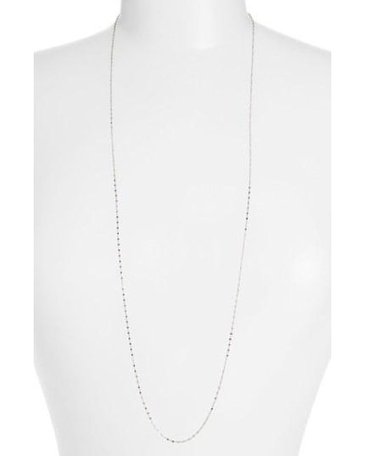 Bony Levy - White Beaded Chain Long Necklace (nordstrom Exclusive) - Lyst