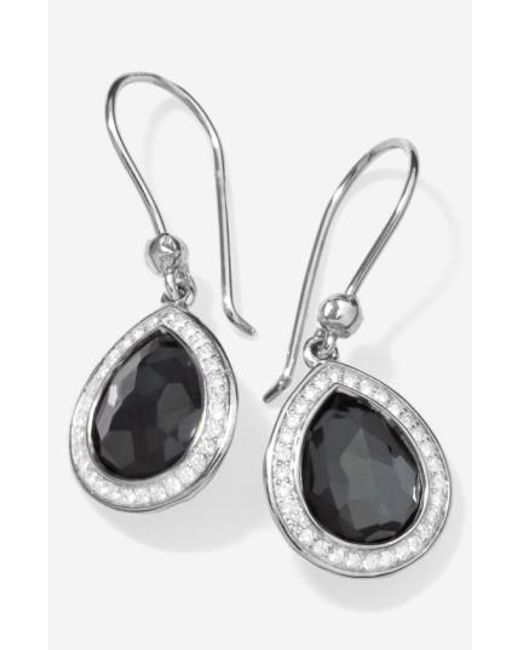 Ippolita | Black 'stella' Teardrop Earrings | Lyst