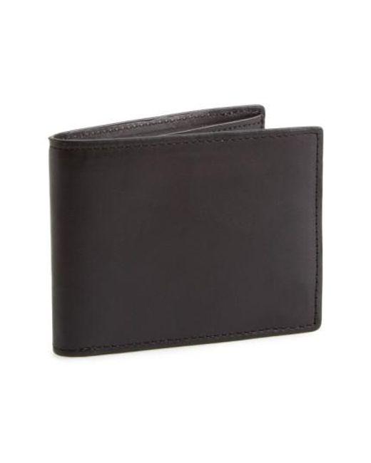 Rag & Bone - Black Hampshire Leather Bifold Wallet for Men - Lyst