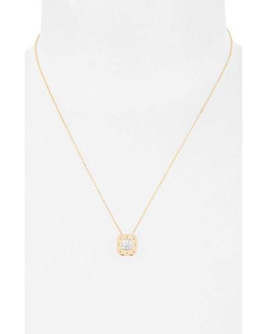 Roberto Coin   Metallic 'pois Moi' Diamond Pendant Necklace   Lyst
