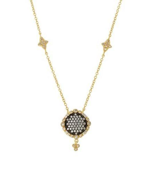 Freida Rothman | Metallic Disc Pendant Necklace | Lyst