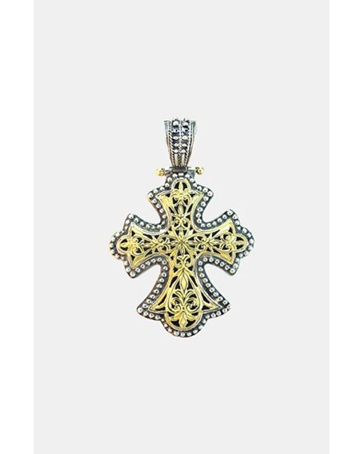 Konstantino | Metallic 'classics' Two-tone Cross Pendant | Lyst
