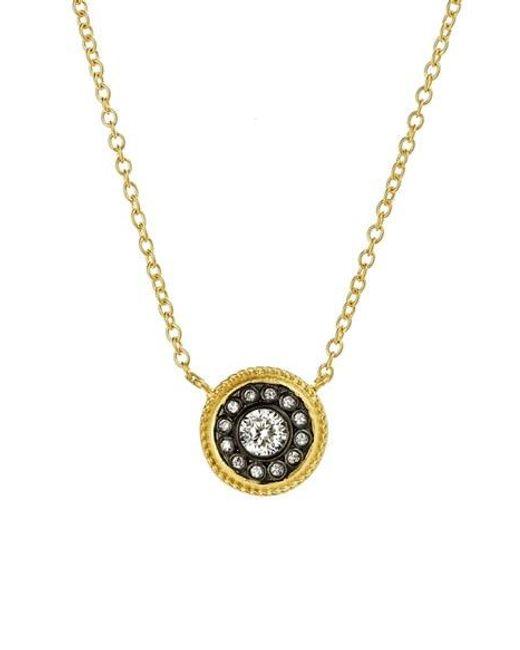 Freida Rothman | Metallic 'hamptons' Nautical Button Pendant Necklace | Lyst