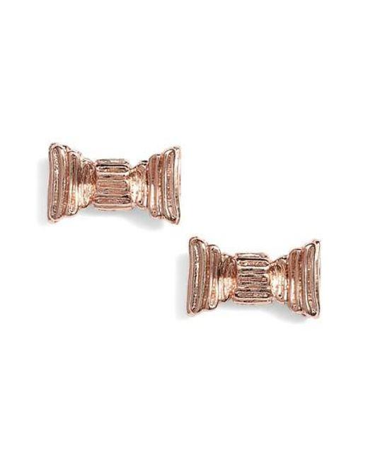 Kate Spade | Metallic All Wrapped Up Stud Earrings | Lyst
