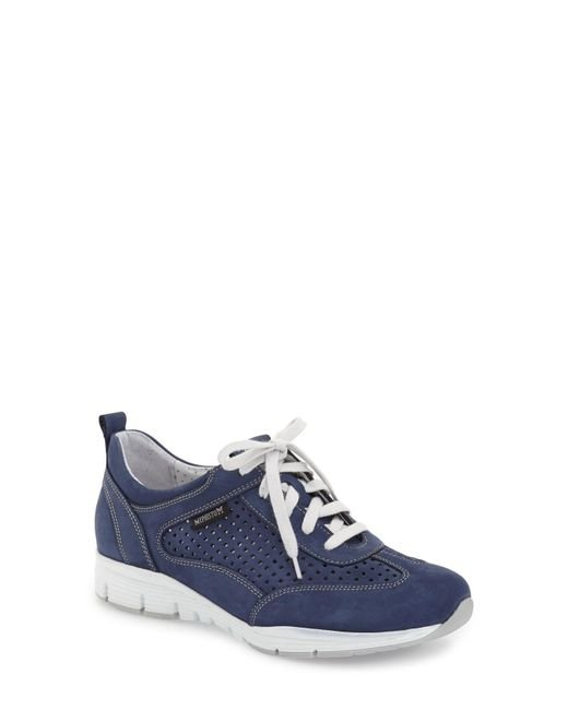Mephisto - Blue 'yoana' Soft Air Perforated Sneaker - Lyst