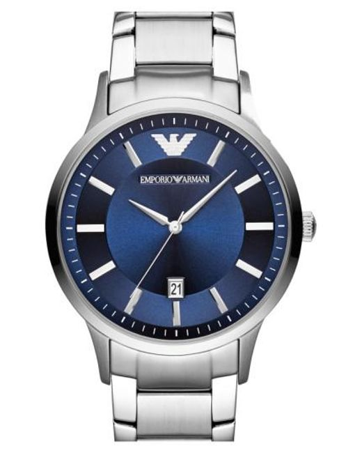Emporio Armani - Metallic Round Bracelet Watch for Men - Lyst