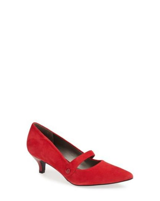 Trotters - Red 'petra' Pump - Lyst