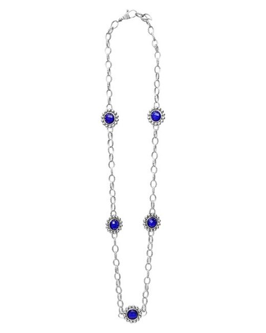 Lagos | Blue 'maya' Station Necklace | Lyst