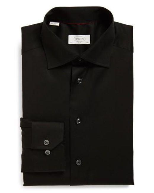 Eton of Sweden   Black Slim Fit Dress Shirt for Men   Lyst