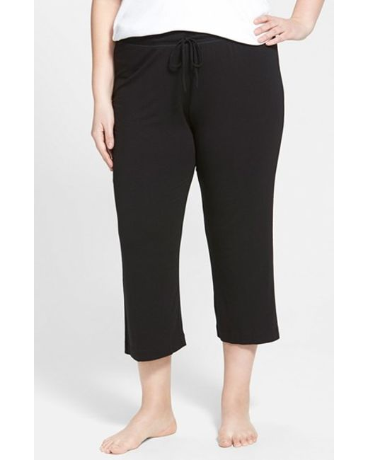 DKNY | Black 'urban Essentials' Capri Pants | Lyst