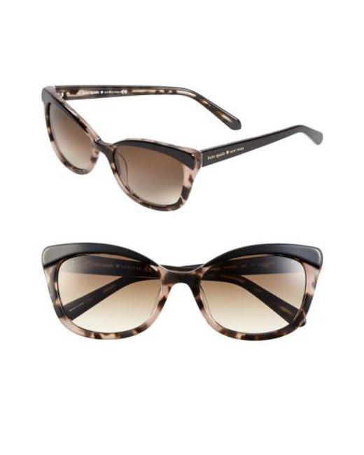 Kate Spade | Brown 'amaras' 55mm Sunglasses | Lyst