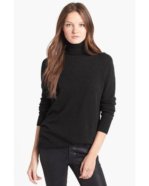 Equipment | Black 'oscar' Cashmere Turtleneck | Lyst