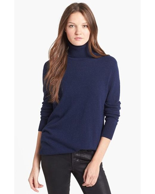 Equipment | Blue 'oscar' Cashmere Turtleneck | Lyst