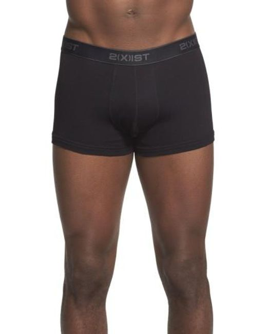 2xist | 3-pack No Show Trunks, Black for Men | Lyst