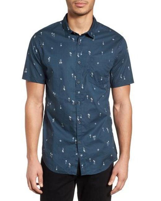 Billabong - Blue Sundays Mini Short Sleeve Shirt for Men - Lyst