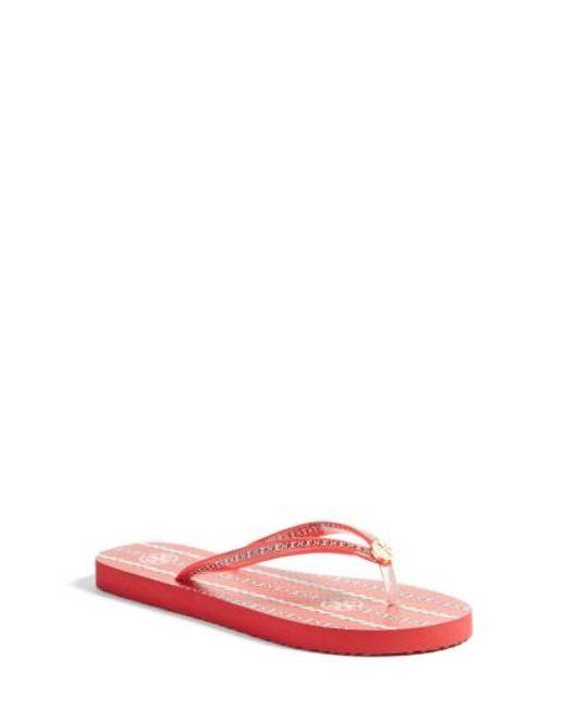 Tory Burch | Multicolor Thin Flip Flop | Lyst